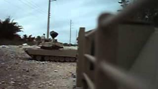 Rc  Battle Tank Paintball.avi