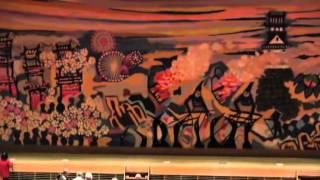 犬山市民文化会館大ホールどん帳の特別公開日