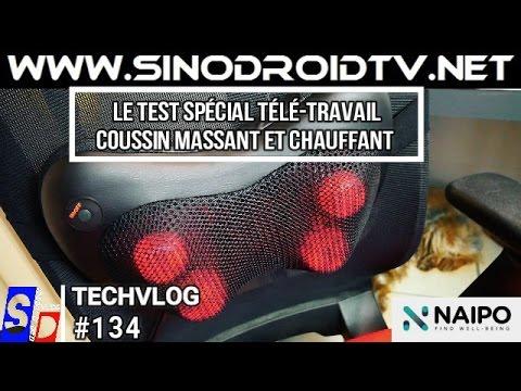 TEST d'un coussin masseur chauffant NAIPO par SinodroidTV - Idéal pour les télé-travailleurs