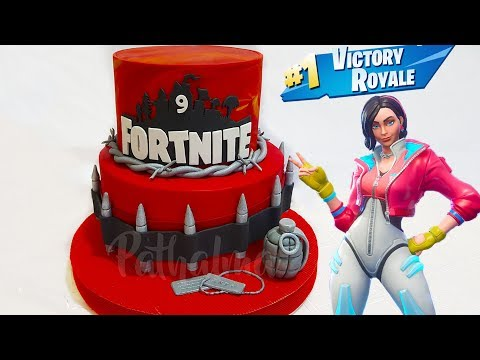 FORTNITE CAKE 💥💣 PASO A PASO! |  TORTA DE FORTNITE BATTLE ROYALE CAKE
