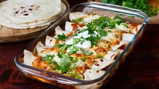 Chicken and Bean Enchiladas Recipe by Home Cooking Adventure