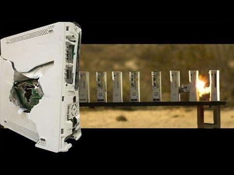 一顆子彈到底能打穿多少台Xbox 360?