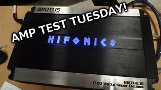Video Amp Test Tuesday - Hifonics Brutus Elite BE1700.1D Rated 1700x1 MP3, 3GP, MP4, WEBM, AVI, FLV Agustus 2018
