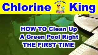 How to Clean a Green Pool - Chlorine King Pool Service