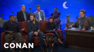 "Video The Men Of ""Avengers: Infinity War"" Compare Themselves To Different Meats  - CONAN on TBS MP3, 3GP, MP4, WEBM, AVI, FLV Mei 2019"