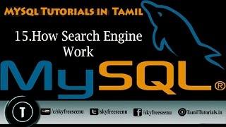 MYSQL Tutorials In Tamil 15 How Search Engine Work