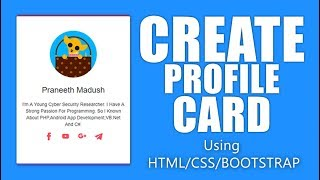 Create Simple Profile Card Css And Bootstrap