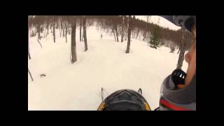 6. Ski-Doo summit 550f sidehilling, jump and carving