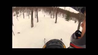 9. Ski-Doo summit 550f sidehilling, jump and carving
