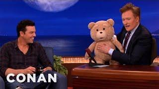 "Video Seth MacFarlane's ""Ted"" R-Rated Teddy Bear Malfunctions - CONAN on TBS MP3, 3GP, MP4, WEBM, AVI, FLV Juni 2018"