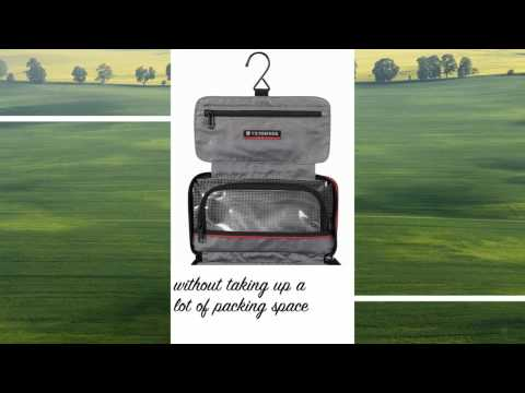 Victorinox Zip-Around Travel Kit 3-Section Toiletry Case wit