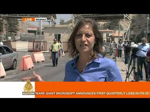 zeina khodr - Syrian opposition fighters have taken control of a number of border crossings with Iraq and Turkey.In Masnaa in Lebanon, is Zeina Khodr reports on border dev...
