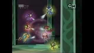 The Phoenix Revealed is the final episode of the second season of Winx Club.Another final battle is approaching, and Darkar and Dark Bloom are in Realix, getting ready to summon the Ultimate Power. The Winx girls go to Darkar's throne room only to be stopped by monsters.Stella and Layla go ahead with the elders. The elders reveal that the Codex isn't the only way to get into Realix. The four artifacts that Faragonda gave to the elders created a puzzle which Stella easily solved.As Stella and Layla arrive, Darkar and Dark Bloom begin the ritual summoning the Ultimate Power.After they thought they destroyed Darkar, Stella and Layla find they are trapped. The others arrive just in time only to get caught in a spell.Meanwhile, the teachers manage to destroy Kerbog. The Trix manage to fuse together to form the Megatrix and attack Darkar.Dark Bloom has summoned the Ultimate Power and Darkar transforms into the Shadow Phoenix so that he could absorb the Ultimate Power. Sky manages to talk to Dark Bloom thinking the real Bloom is still in her, but after his speech he faints.The speech, combined with the Great Dragon's power had broken the spell on Dark Bloom turning her back to her old self again and breaking the dark spell on everyone. She also gave the Ultimate Power back to Realix. The teachers arrive and the Winx try one last thing, a Charmix Convergence.They successfully complete the spell and destroy the Shadow Phoenix. As Darkar has been defeated, Darkar's fortress begins to crumble, as do the buildings in Realix, with the Trix (still fused in a single body) trapped inside it.The Winx celebrate with another end-of-year party, and, this time, the witches are invited, hinting that witches and fairies are now starting to become friends.Tecna and Timmy play a video game while Brandon, Stella, Riven and Musa dance, Flora and Helia socialize, and Sky and Bloom discuss what happened in Shadowhaunt. Bloom reveals that she loves Sky, as well and they have their first kiss. Th