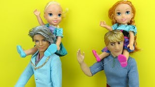 Father's Day ! Elsa and Anna toddlers - Gifts - Surprise