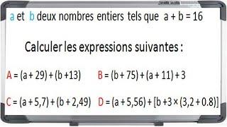 Maths 5ème - Les enchaînements d'opérations Exercice 6