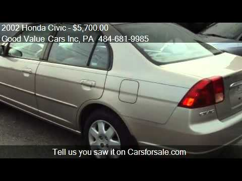 2002 honda civic ex sedan - Good Value Cars Inc 2491 W Main St in Norristown, PA 19403 Come test drive this 2002 Honda Civic EX sedan for sale in Norristown, PA. http://www.goodvaluecar...