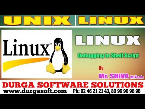 Linux/ Unix Tutorial     Debugging in Shell Script by Shiva