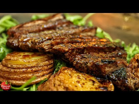 Best Steak And Potatoes! - Forest Cooking ASMR