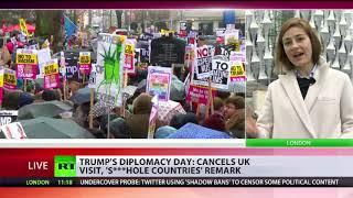 Video Trump cancels UK visit, makes 's***hole countries' remark MP3, 3GP, MP4, WEBM, AVI, FLV Januari 2018