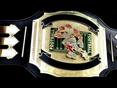 The 2016 Fantasy Football Belt Sportmanship Custom Title Award Trophy