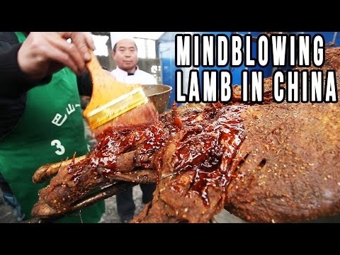 Eating A Whole Roast Lamb In China | Mongolian Food, Sichuan Style
