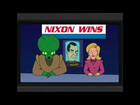 Futurama predicts R. Nixon's election in Y3000