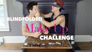 Blindfolded Make Up Challenge - YouTube