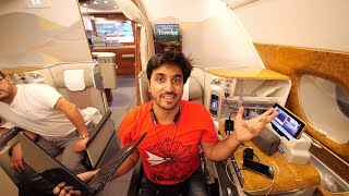 Video BUSINESS CLASS ON EMIRATES A380 MP3, 3GP, MP4, WEBM, AVI, FLV Juni 2018