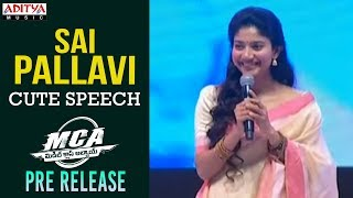 image of Sai Pallavi Speech @ MCA Pre Release Event    Nani, Sai Pallavi    DSP    Sriram Venu