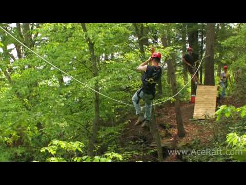 Zip Lining Through The Trees | ACE Adventure Resort