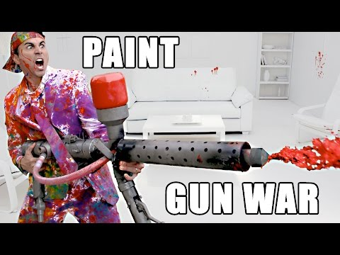 Inventor Mark Rober Builds the Ultimate Paint Gun