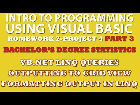 VB.net Programming Challenge 7-pp4: Bachelor's Degree Statistics Part 3 (VB.net LINQ, GridView)