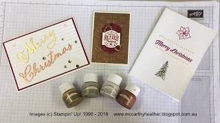 Video What you can do with Stampin' Up!® Shimmer Paints MP3, 3GP, MP4, WEBM, AVI, FLV Juli 2019