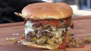 Death By Triple Bacon Cheeseburger Recipe! by Ballistic BBQ