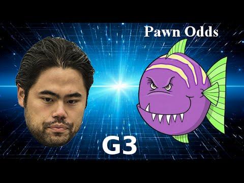 Hikaru Nakamura vs Stockfish minus h-pawn – Game 3 of 4