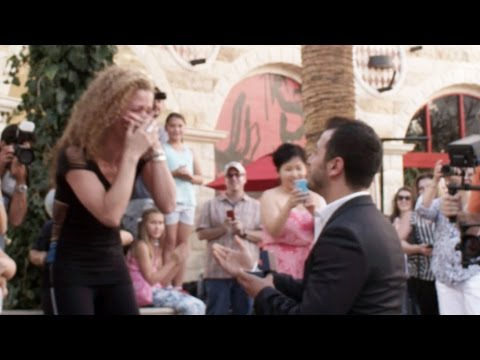 flash mob - He waited 7 years before asking her to marry him, She had no idea the flashmob was for her or that he was going to ask her the big question! Congrats Tania &...