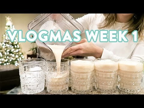 Nutrition - The Best Healthy EggNog and Christmas Cookies  VLOGMAS