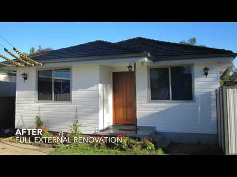 Sydney house cladding renovation before and after  video