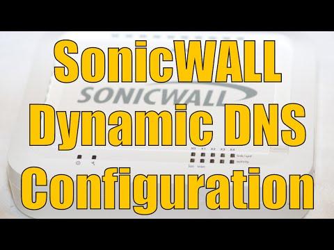 Dell SonicWALL Dynamic DNS Configuration