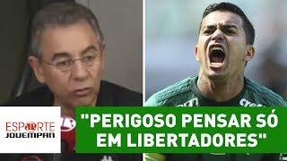 Comentarista Flavio Prado, da Rádio Jovem Pan, disse que, para o Palmeiras, é perigoso focar apenas no título da Copa...