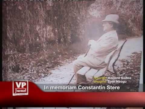 In memoriam Constantin Stere