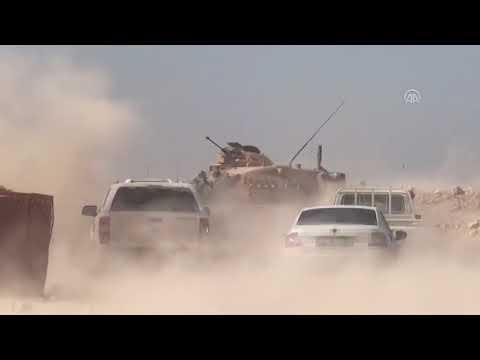 Barış Pınarı Harekatı - Tel Abyad'daki terör hedefleri obüs atışlarıyla vuruluyor