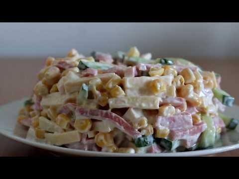 Три быстрых и вкусных салата с кукурузой (Домашний кулинар) - DomaVideo.Ru