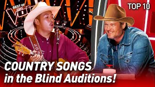Video TOP 10 | COUNTRY SONGS that make The Voice CHAIRS spin like crazy MP3, 3GP, MP4, WEBM, AVI, FLV Juni 2019