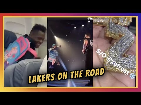 Video: LN IG Stories: Lakers Head to Vegas, Rookie Backpacks, Lonzo and LeBron Catch Drake at Staples