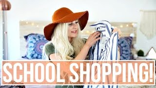SHOPPING FOR BACK TO SCHOOL CLOTHES! by Aspyn + Parker