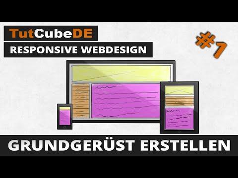 Responsive Webdesign – Grundgerüst erstellen [GER] [TutCubeDE]