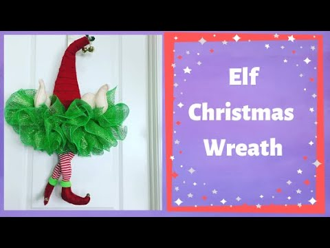 How To Make An Elf Hat With A Dollar Tree Frame