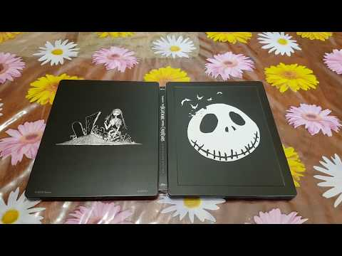 Tim Burton'S The Nightmare Before Christmas Blu-ray Limited Edition Glow In The Dark New Unboxing