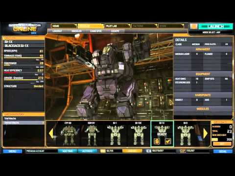 Watch MechWarrior Online Introducing the Blackjack